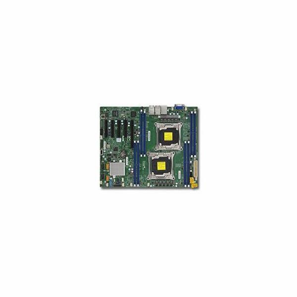 SUPERMICRO MB 2xLGA2011-3, iC612 8x DDR4 ECC,10xSATA3,(PCI-E 3.0/1,2,1(x16,x8,x4)PCI-E 2.0/1(x4),4x LAN,IPMI
