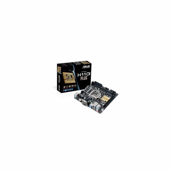 ASUS H110I-PLUS soc.1151 H110 DDR4 mITX 1xPCIe USB3 GL iG D-Sub DVI HDMI