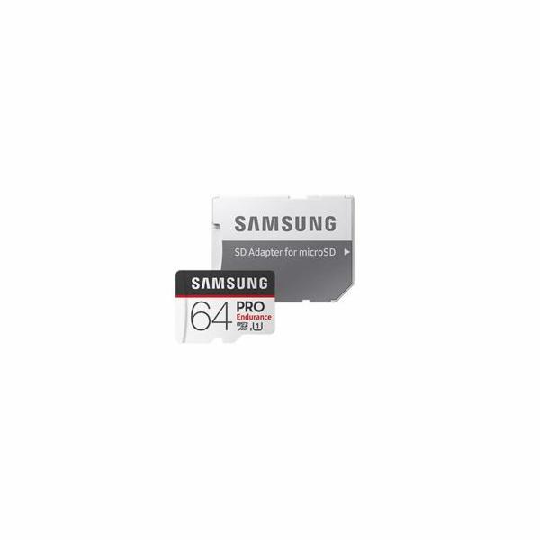 Samsung Micro SDHC karta 64GB PRO Endurance + SD adaptér
