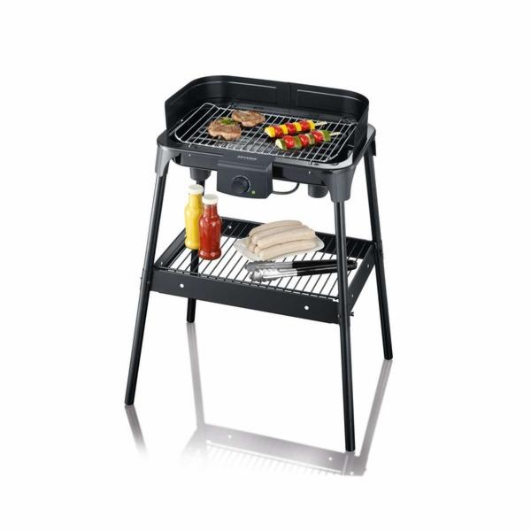 PG 8532 stojanový BBQ gril chrom rošt