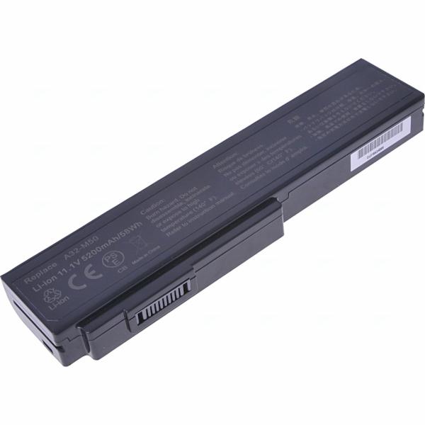Baterie T6 power Asus M50, G50, G60, N43, N53, N61, B43, X55, X57, X64, 6cell, 5200mAh