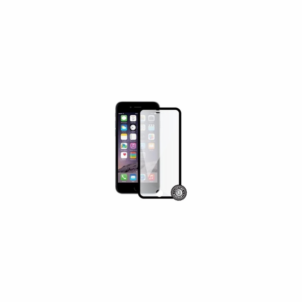 Screenshield™ Apple iPhone 7 Tempered Glass protection display (full COVER BLACK metalic frame)