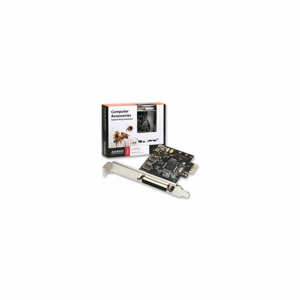 AXAGO - PCEA-P1 PCI-Express adapter 1x paralel port + LP