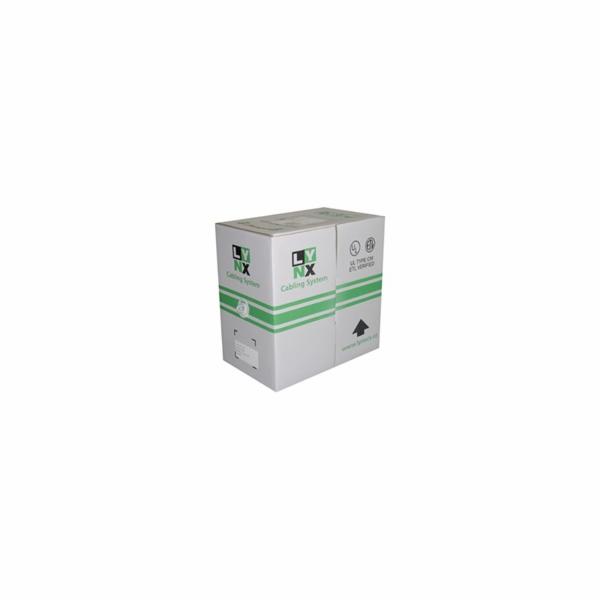 UTP kabel LYNX, Cat6, drát, PVC, 305m box