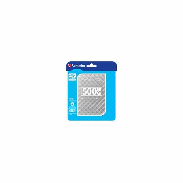 """Verbatim Store 'n' Go GEN 2, 500GB, externí HDD 2.5"""" USB 3.0, stříbrný"""