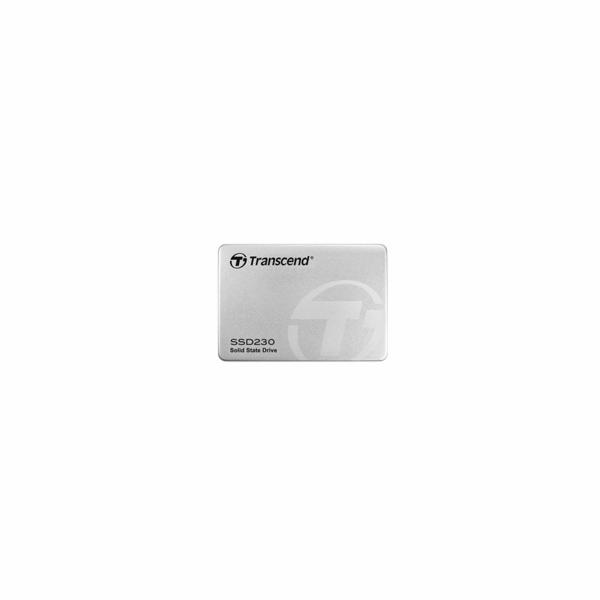 TRANSCEND SSD230S 512GB SSD disk 2.5'' SATA III, 3D TLC, Aluminium casing, 560MB/s R, 500MB/s W, stříbrný