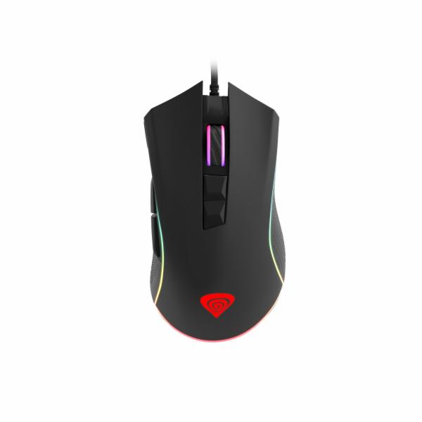 Profesionální herní optická myš Genesis Krypton 770, RGB, software, 1200DPI, PMW3360, dárek v balení
