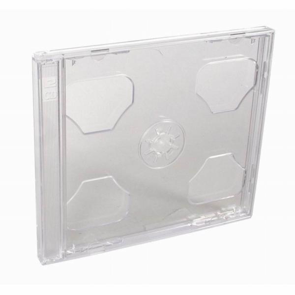 Esperanza Plastové krabičky na 2 CD/DVD | 200 ks, transparentní