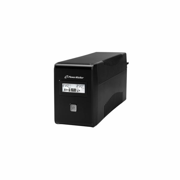 Power Walker UPS Line-Interactive 850VA 2x 230V EU, RJ11, USB, LCD