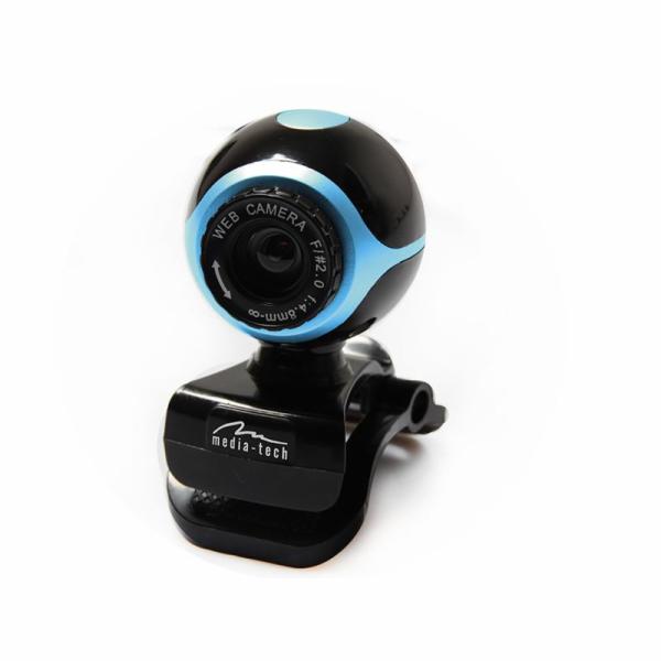 Media-Tech LOOK II webová kamera 640x480 s mikrofonem + ovladače, černo-modrá