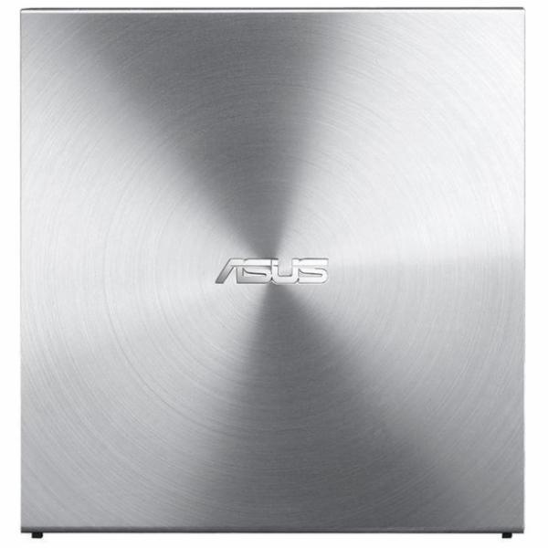Asus DVD+/-RW 08U5S, externí tenká, 24x, stříbrný