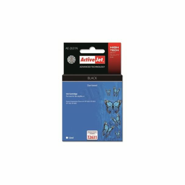 ActiveJet ink Eps T2631 Black XP-600, XP-800 AE-2631N 12 ml