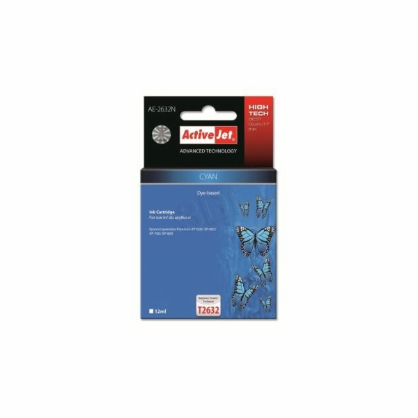 ActiveJet ink Eps T2632 Cyan XP-600, XP-800 AE-2632N 12 ml