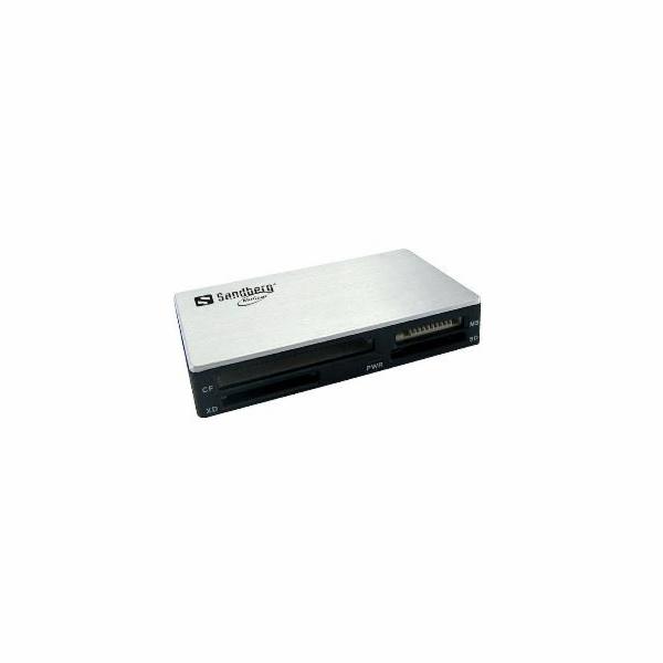 Sandberg multi čtečka paměťových karet, USB 3.0, bílo-černá