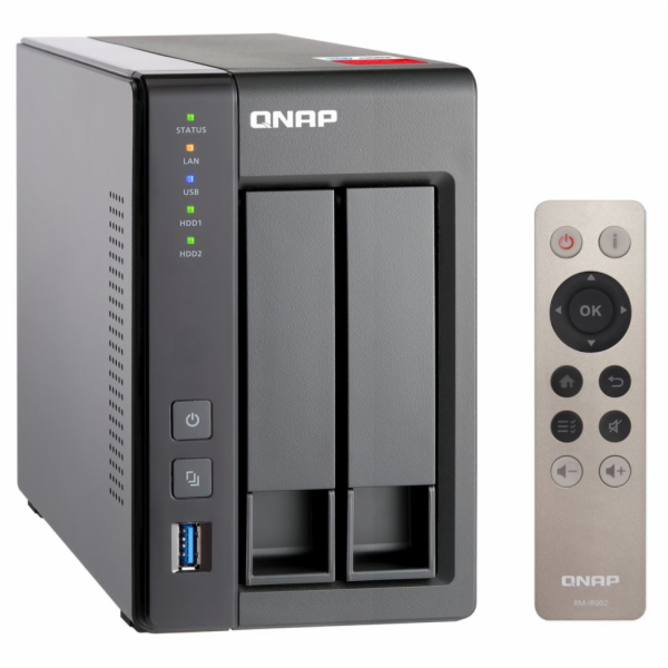QNAP TS-251+-2G (2GHz/2GBRAM/2xSATA/2xGbE/1xHDMI)