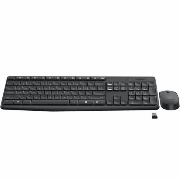 Logitech MK235 bezdrátové Combo, sada klávesnice a myši, ruský layout