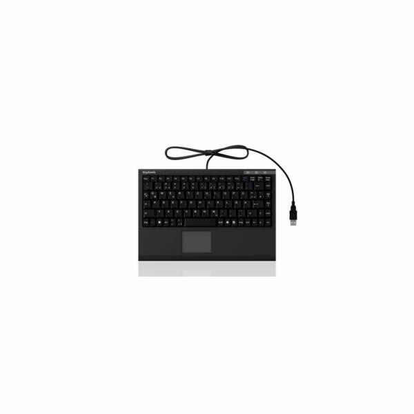 IcyBox KeySonic mini klávesnice, smart touchpad, USB 2.0, černá