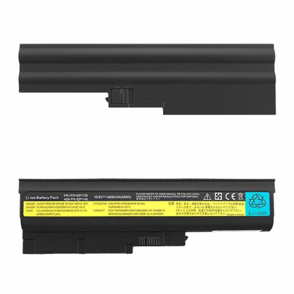 Qoltec baterie pro notebooky Lenovo R500 R60 | 10.8-11.1V | 4400mAh
