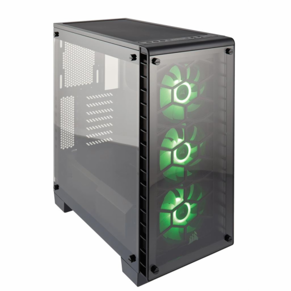 CORSAIR CC-9011101-WW Corsair PC skříň Crystal Series 460X RGB Tempered Glass, Compact ATX Mid-Tower