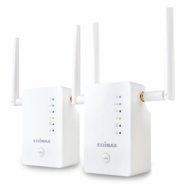 Edimax Gemini RE11 AC1200 Dual-Band Wi-Fi Roaming Kit, Wi-Fi Extender/AP/Bridge