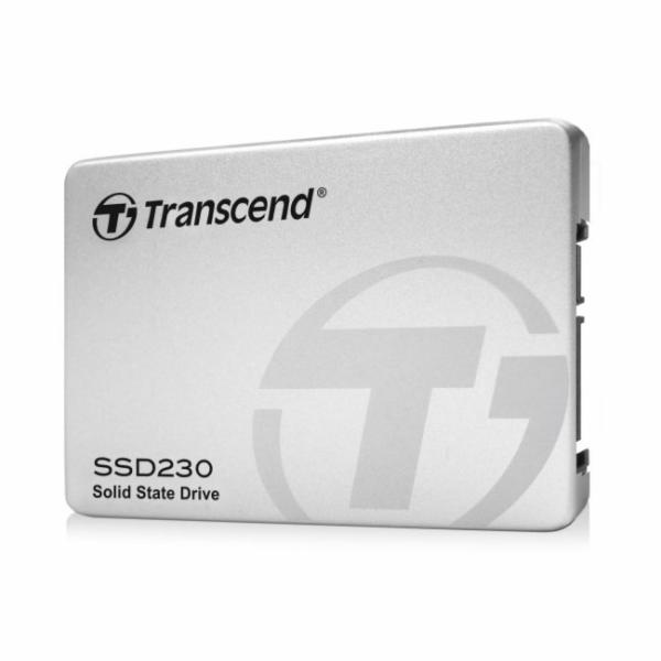TRANSCEND SSD230S 256GB SSD disk 2.5'' SATA III, 3D TLC, Aluminium casing, stříbrný