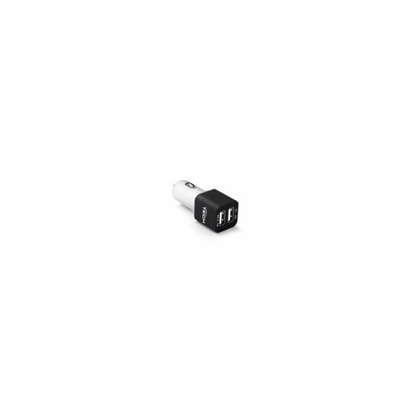 USB smart nabíječka do auta LAMAX, bílá