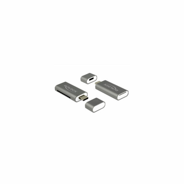 Delock Čtečka karet USB Type-C™ SDHC / MMC + Micro SD 2 Sloty