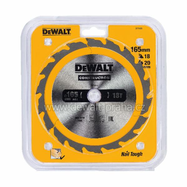 DeWALT DT1933 Pilový kotouč 165 x 20 mm, 18 zubů