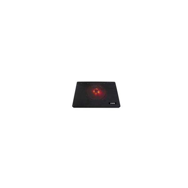 """CRONO aktivní chladicí podložka pod notebook CB157 do 15.6"""", červené LED podsvícení"""