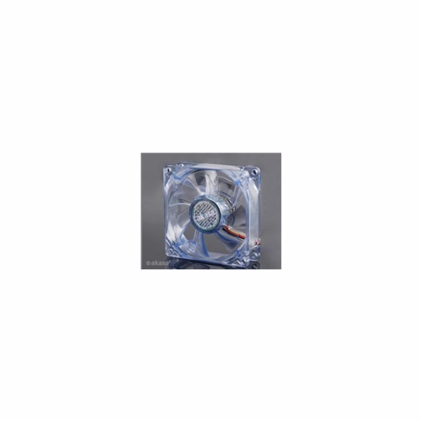 AKASA ventilátor AK-170CB-4BLS, 80 x 25mm, modrý LED, kluzné ložisko
