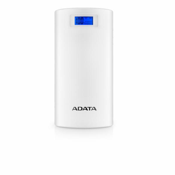 ADATA PowerBank P20000D - externí baterie pro mobil/tablet 20000mAh, 2,1A, bílá