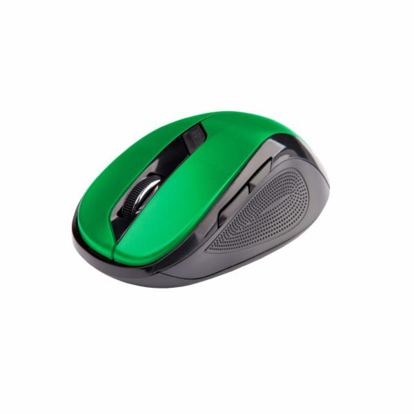 C-TECH Myš WLM-02 bezdrátová, 6tlač. černo-zelená