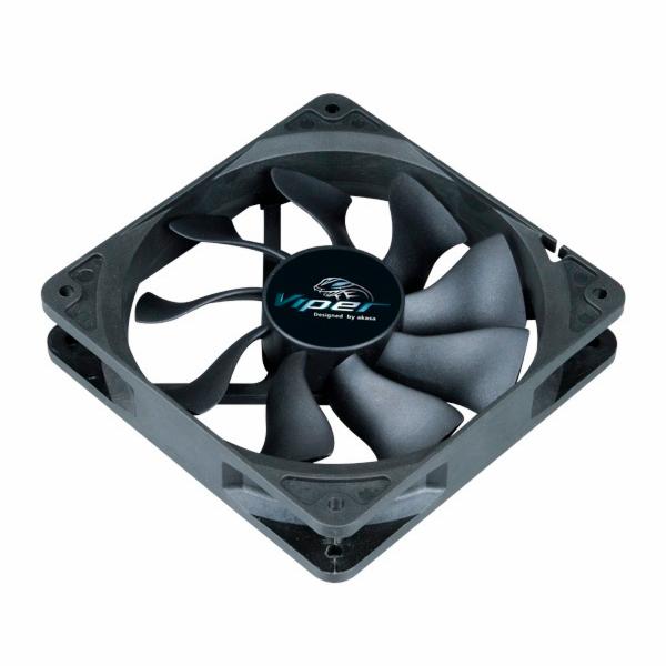 AKASA Větrák 12cm Viper Black Fan 120x120, HDB, 4 pin PWM