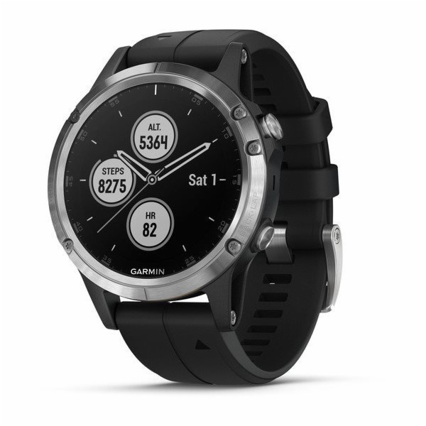 Garmin fenix 5 Plus Glass Silver/Black