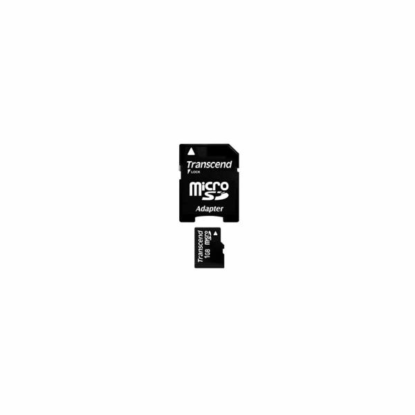 Transcend 1GB microSD paměťová karta (s adaptérem)