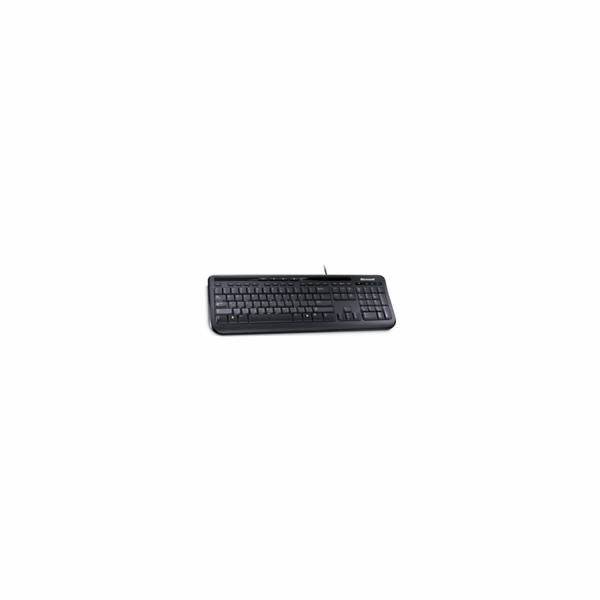 Microsoft Keyboard Wired 600, Czech, Black