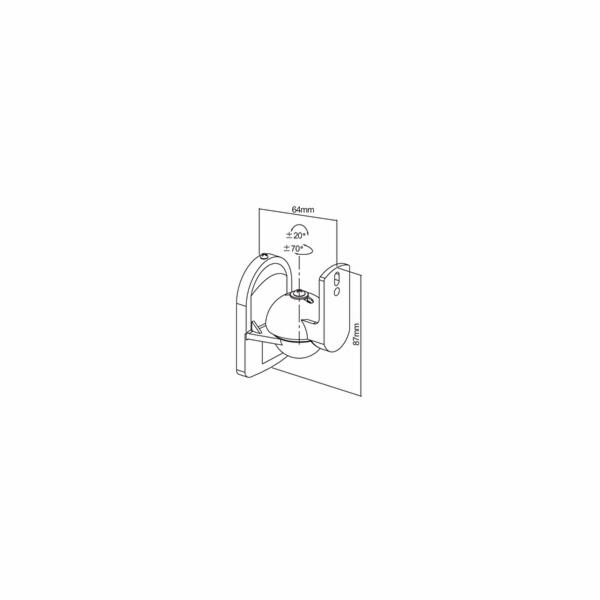 CONNECT IT Nástěnný držák na reproduktory