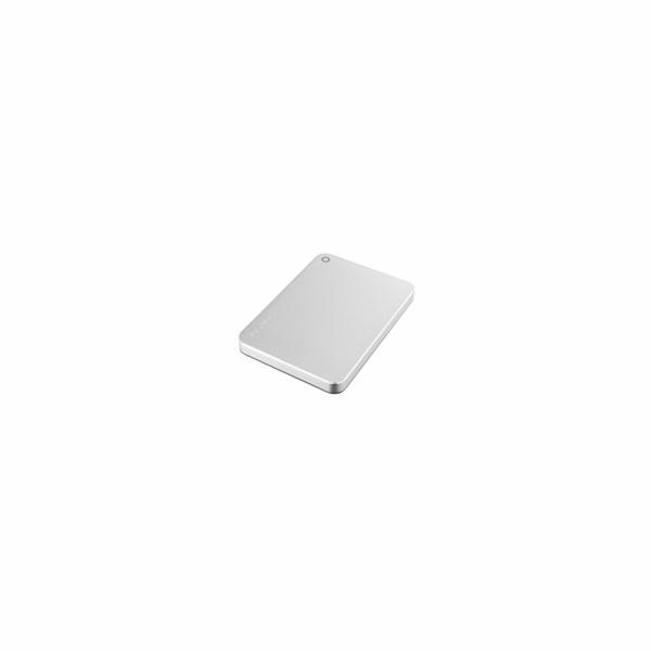 """TOSHIBA HDD CANVIO PREMIUM 2TB, 2,5"""", USB 3.0, metalická stříbrná"""