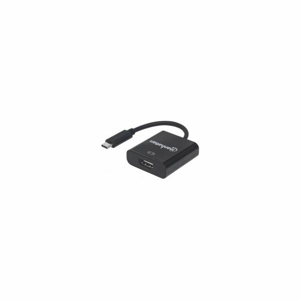 MANHATTAN převodník z USB 3.1 na HDMI (Type-C Male to HDMI Female, Black)