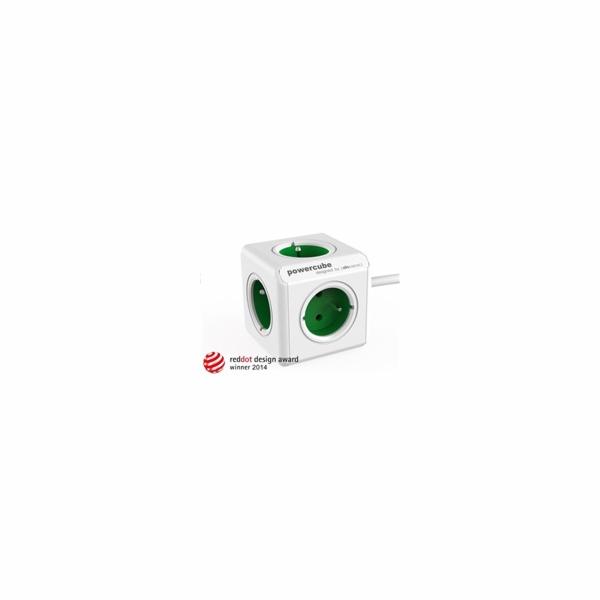 Zásuvka prodluž. PowerCube EXTENDED, Green, 5-ti rozbočka, kabel 1,5m