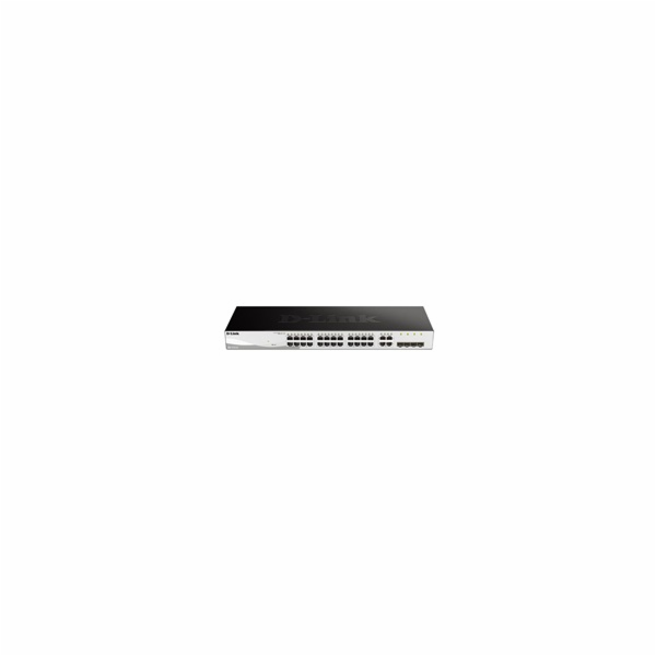 D-Link DGS-1210-24 28-port Gigabit Smart Switch, 24x GbE, 4x RJ45/SFP, fanless