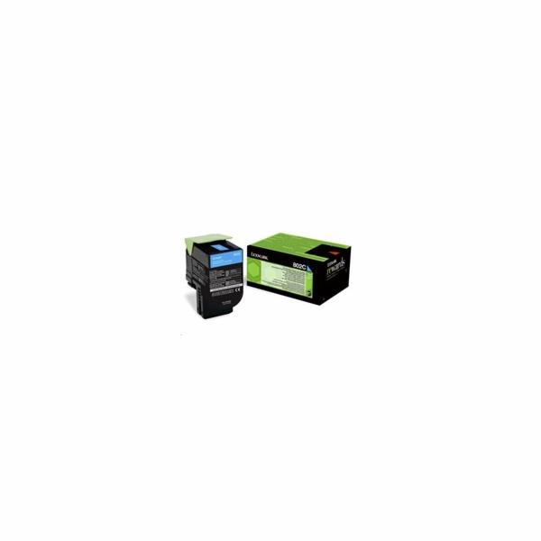 TONER LEXMARK 802C Cyan Return Program Toner Cartridge 1000 strán