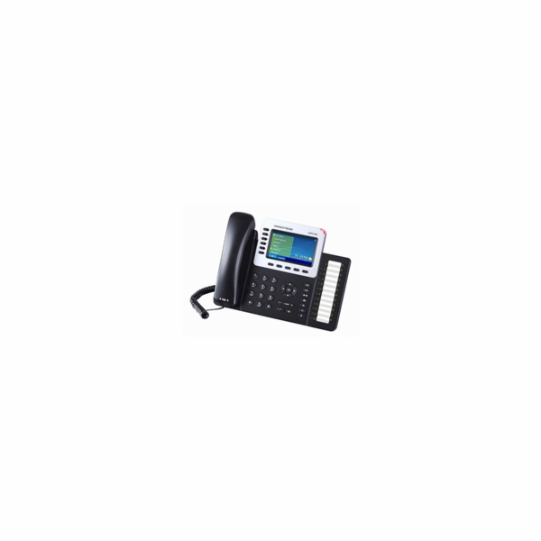 Grandstream GXP2160 [VoIP telefon - 6xSIP účet, HD audio, 5prog.tl. + 24 předvoleb, bluetooth, EHS,b