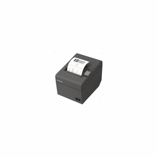 EPSON TM-T20II pokladní tiskárna, USB/LAN, tmavá, řezačka, se zdrojem