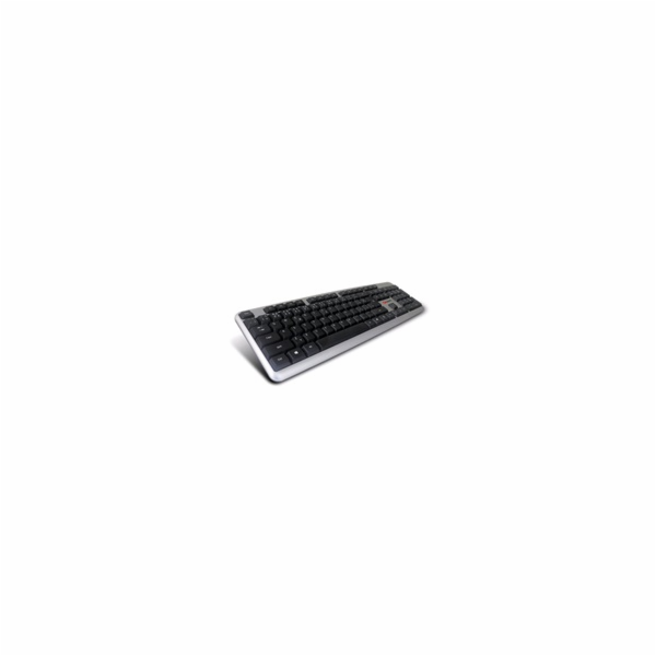 C-TECH klávesnice KB-102 USB, slim, silver, CZ/SK