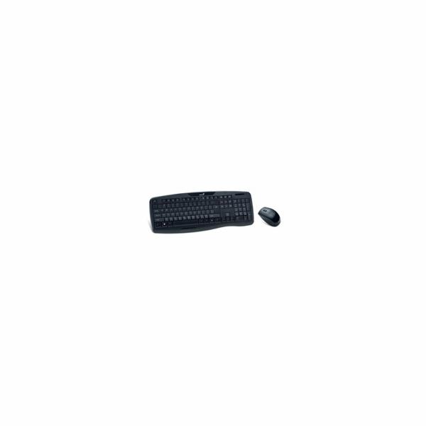 GENIUS klávesnice s myší KB-8000X/ bezdrátový set 2,4GHz mini receiver/ USB/ černá