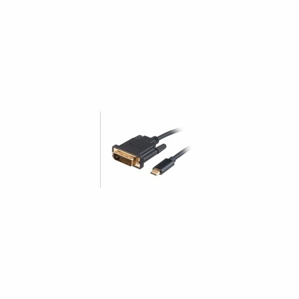 AKASA adaptér USB Type-C na DVI, kabel, 1.8m
