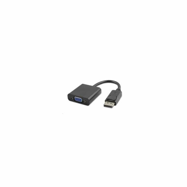 PREMIUMCORD Redukce DisplayPort - VGA 15cm (M/F, černá)