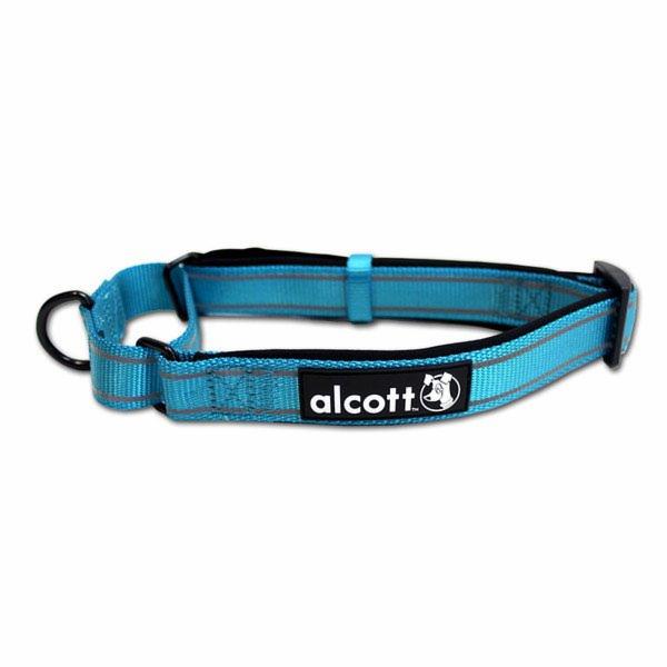 Alcott reflexní obojek pro psy, Martingale, modrý, velikost L