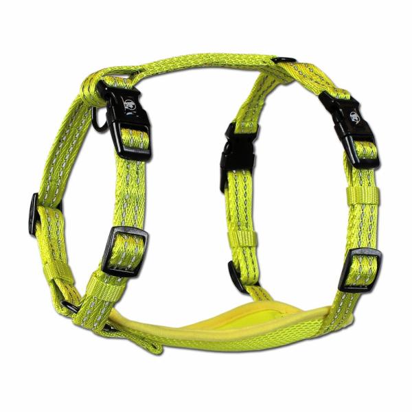 Alcott Reflexní postroj pro psy, žlutý, velikost M